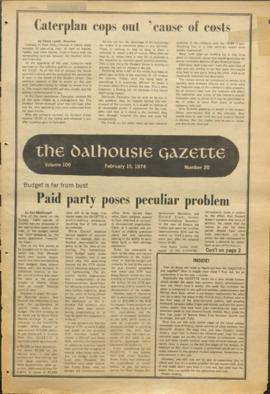 The Dalhousie Gazette, Volume 106, Issue 20