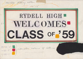 Sketch of Rydell High sign