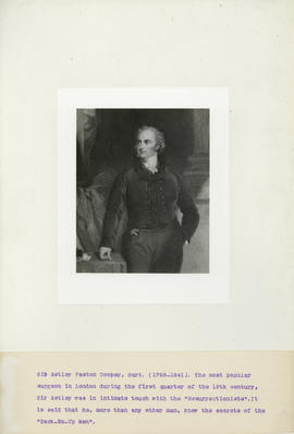 Portrait of Sir Astley Paston Cooper, Bart. (1768-1841)
