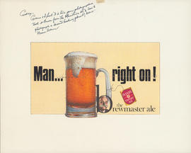 Poster: Man…Right On! The brewmaster ale - Oland's Export Ale