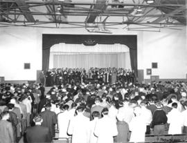 Photograph of the opening ceremony of the Sir James Dunn Building
