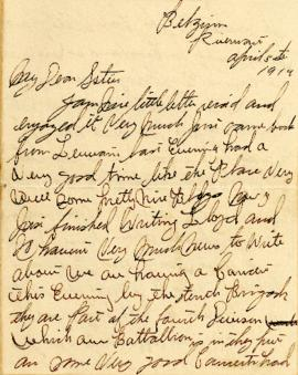 Letter from Weldon Morash to his sister Gertrude dated 5 April 1919