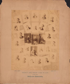 Composite photograph of the Dalhousie University faculty and senior class in law of 1891-1892