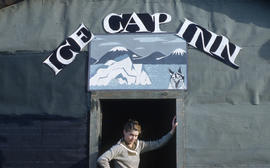 Photograph of Barbara Hinds at the Ice Cap Inn in Frobisher Bay, Northwest Territories
