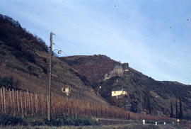 Photograph of a mountain near Mosel River below Lasserg