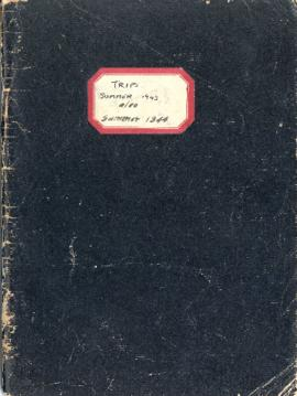 Hugh Bell's plant collecting trips notebook, summer 1943 and summer 1944