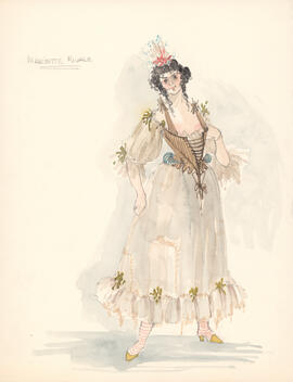 Costume design for Mariette Rivale