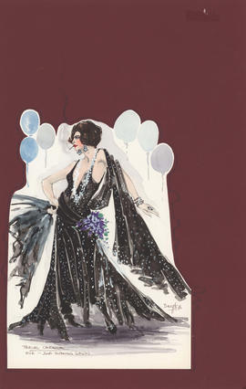 Costume design for Eve : second evening gown