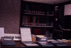 Photograph of the W.K. Kellogg Health Science Library reserve books