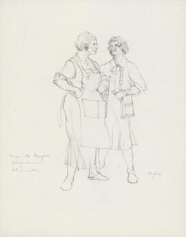 Costume design for Albertine and Charlotte
