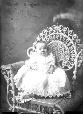 Photograph of  James K. Fraser's baby