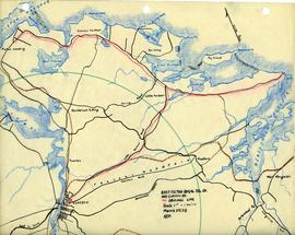 Map of East Pictou Rural Telephone Company's telephone line