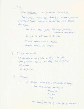 [Ocean development] by Elisabeth Mann Borgese : [handwritten notes]