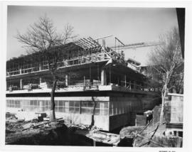 Photograph of the south east view of the Killam Memorial Library construction