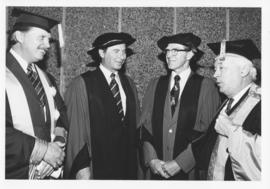 Photograph of Dr. Francis Norman Hughes and others at an arts and science convocation ceremony