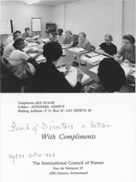 Photograph of the International Council of Nurses' Board of Directors, 1968