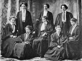 Photograph of Delta Gamma Society Officers