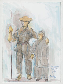 Costume design for the Ferryman and Wife