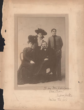 Rafael Joseffy and family : [autographed photograph]