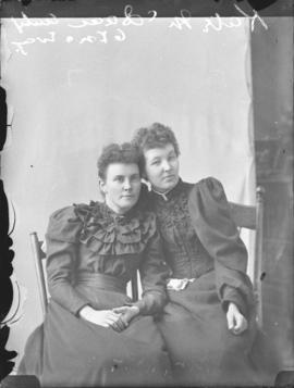 Photograph of Miss Kate McIsaac and sister