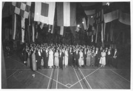 Photograph of attendees at a Dalhousie reunion dance