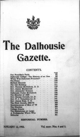 The Dalhousie Gazette, Volume 35, Issue 4-5