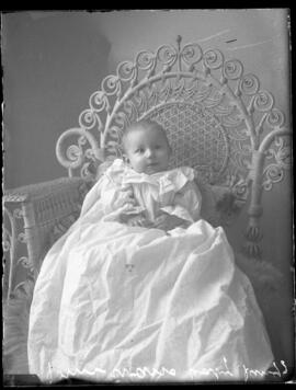Photograph of the baby of Mr. John Evans
