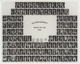 Composite photograph of Faculty of Law graduates of 1978