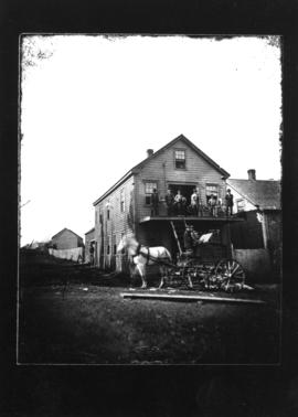 Photograph of the Spinning Wheel factory in New Glasgow