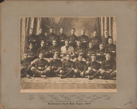Photograph of Dalhousie Foot Ball Team - 1914