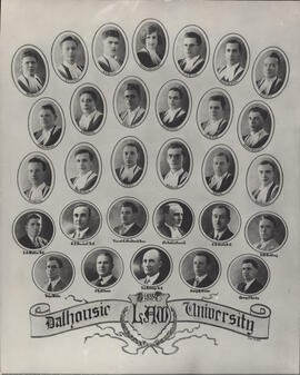 Composite photograph of Faculty of Law class of 1935