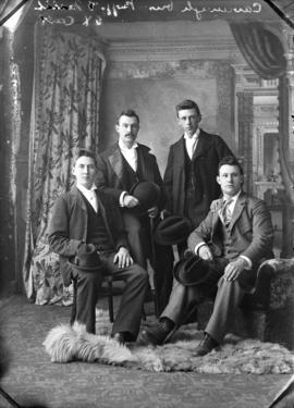 Photograph of Cavanagh brothers and Messrs. Boggs and Mitchell