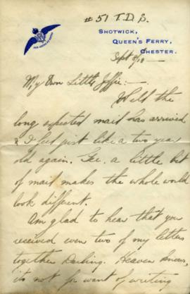 Letter from Shotwick, Chester