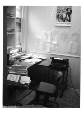 Photograph of the public services office in the Medical-Dental Library - 5963 College Street