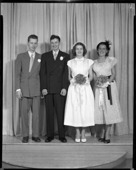 Photograph of Mr.& Mrs. William Robertson and their wedding party