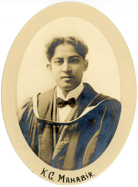 Portrait of Kenneth Grant Mahabir : Class of 1916
