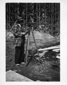 Photograph of a surveyor
