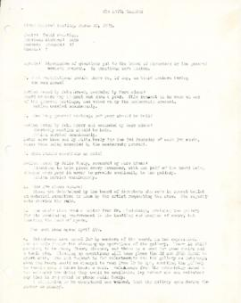 Meeting minutes from March 20, 1975