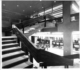 Photograph of the main staircase and lobby in the Killam Memorial Library