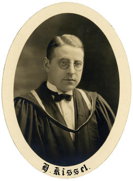 Portrait of Henry Kissel : Class of 1926
