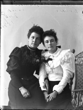 Photograph of Kate McDonald and her friend