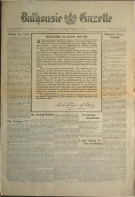 Dalhousie Gazette, Volume 58, Issue 1