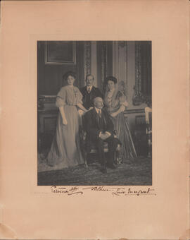 Photograph of Prince Arthur, Duke of Connaught and Strathearn; Princess Patricia of Connaught; Pr...