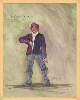 Costume design for Costard the Clown