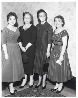 Photograph of Lady Dunn with three unidentified women