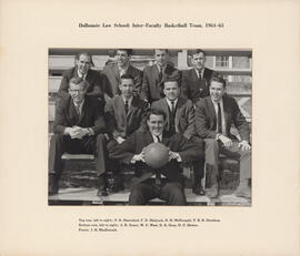 Photograph of Dalhousie Law School Inter-Faculty Basketball Team