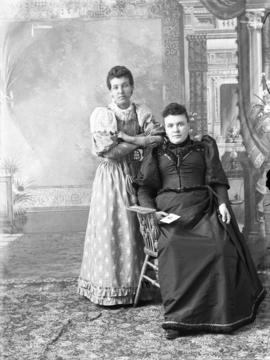 Photograph of Mrs. Walter Grant and unknown individual