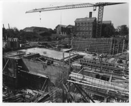 Photograph of the east view of the Killam Memorial Library construction