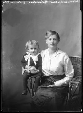 Photograph of Mrs. Duncan Robertson & her child