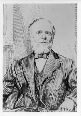 Photograph of  a sketch of George Munro